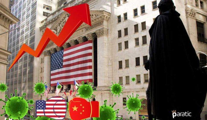 ABD Endeksleri Çin Yaptırımı ve Artan Vakalara Rağmen Yükselişte