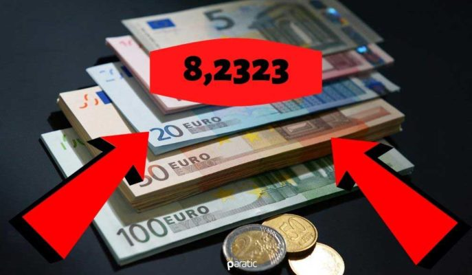 Euro, Türk Lirası Karşısında 8,23 ile Tüm Zamanların En Yükseğini Gördü
