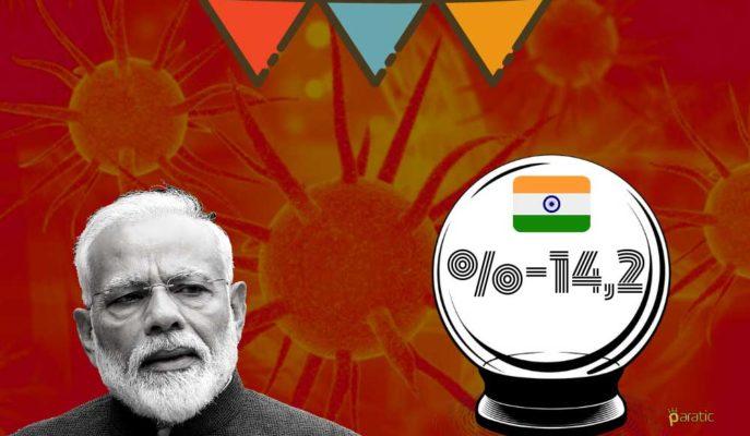 Hindistan GSYİH Büyümesi İlk Çeyrekte %14,2 Küçülecek