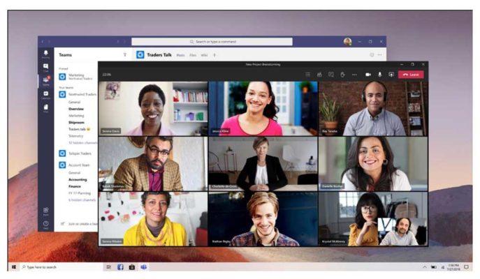 Microsoft Teams'e Katılımcıları Bir Arada Gösterecek Mod Geldi
