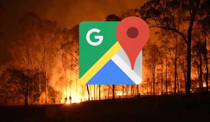 Google Haritalar Kullanıcılara Orman Yangınları Hakkında Bilgi Akışı Sağlayacak