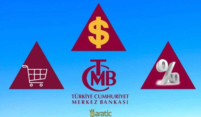 TCMB Yıl Sonu Dolar Tahmini 7,34'e, TÜFE Beklentisi %10,82'ye Yükseltildi