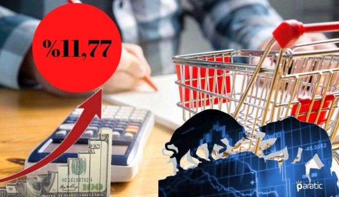 %11,77 Gelen TÜFE Sonrasında Dolar ve Borsa Yukarı Yönlü Hareket Ediyor