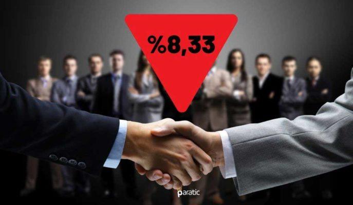 Ağustos'ta Kurulan Şirket Sayısı Bir Önceki Aya Göre %8,33 Azaldı