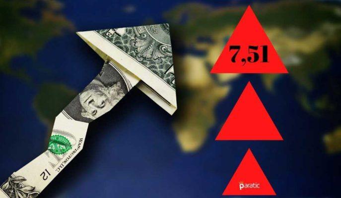 7,51'e Yaklaşan Dolar Tarihinin En Yüksek Seviyesine Ulaştı
