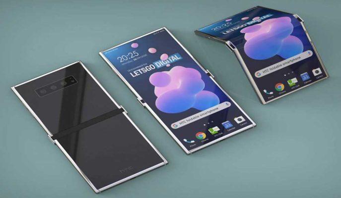 HTC Dışa Doğru Dikey Katlanabilir Ekran Teknolojisi Üzerinde Çalışıyor