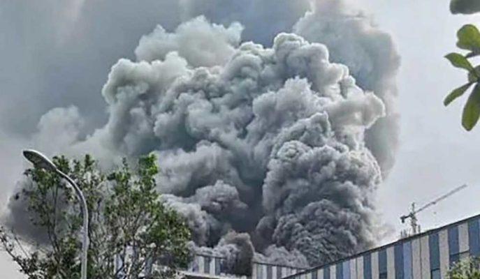 Huawei'nin Çin'deki Araştırma Merkezinde Büyük Ölçekte Yangın Çıktı