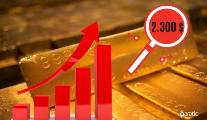 Ons Altının Önümüzdeki Yıl 2.300 Dolara Yükselmesi Bekleniyor