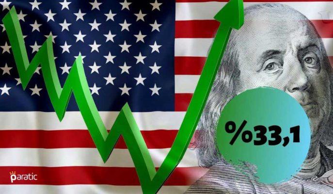 İlk Okumalara Göre ABD GSYİH'si 3Ç20'de %33,1'le Rekor Düzeyde Büyüdü