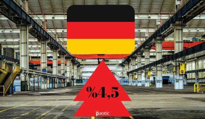 Almanya'da Fabrika Siparişleri Ağustos'ta %4,5 Artsa da Yıllık Olarak Ekside