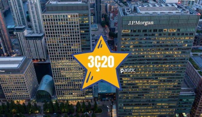 JPMorgan 3Ç20 Sonuçları Tahminleri Aştı, Hisseleri Dalgalı Seyretti