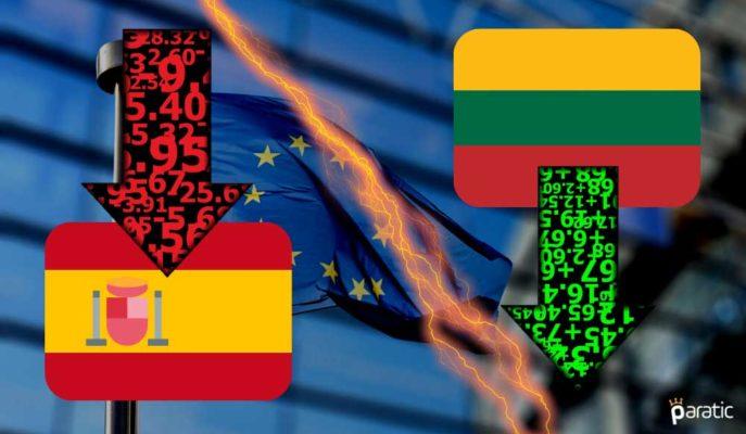 AB Komisyonu 2020'de En Büyük Düşüşü İspanya'da En Küçüğü Litvanya'da Gördü
