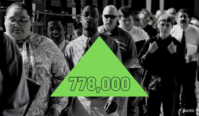 ABD İşsizlik Maaşı Başvuruları Yeniden Artarak 778 Bine Yükseldi