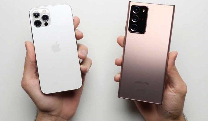 Apple ve Samsung'un En Güçlüleri iPhone 12 Pro ve Galaxy Note 20 Ultra Hız Testinde Karşılaştı