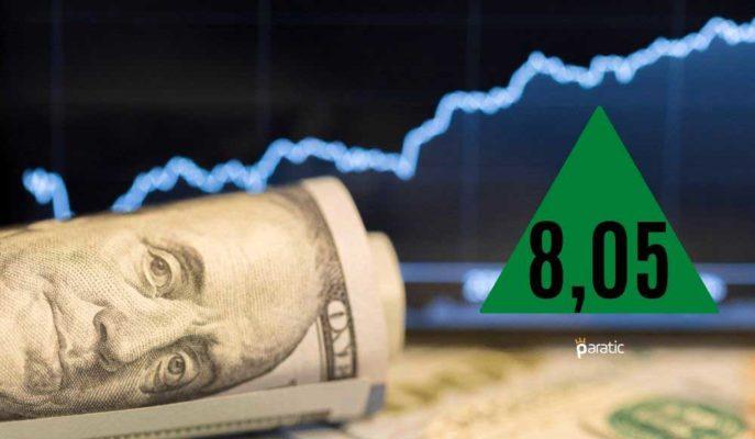 Dolar 13 Günlük Aranın Ardından Yeniden 8 Liranın Üstüne Çıktı