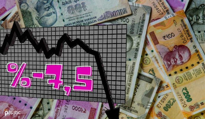 Hindistan %7,5'lik GSYİH Düşüşüyle İlk Resesyonunu Kaydetti