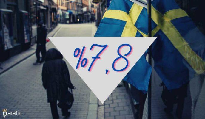 İsveç'te İşsizlik Oranı Ekim Ayında Yüzde 7,8'e Geriledi