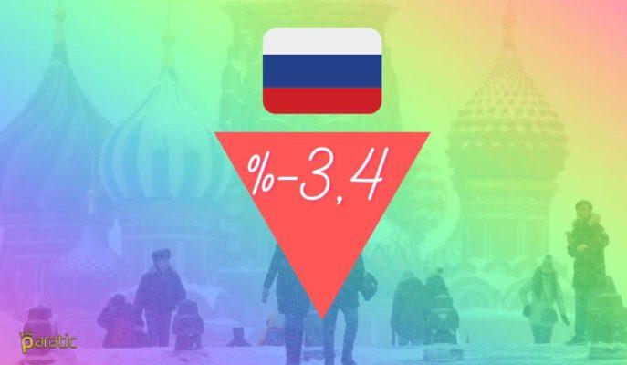 Rusya 3Ç20 GSYİH Okumasını %3,4 Düşüşe Revize Etti
