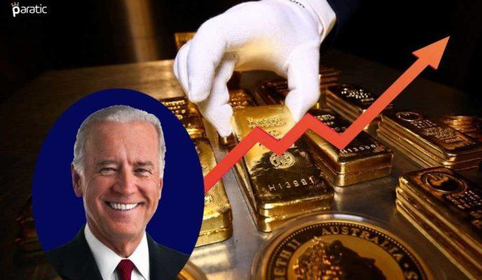 Altın, Biden'ın 1,9 Trilyon Dolarlık Teşvik Paketi Önerisiyle Yükseldi