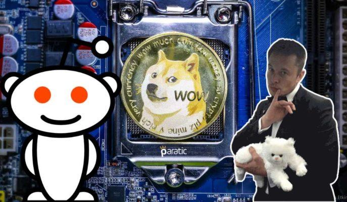 Dogecoin, Reddit ve Elon Musk Etkisiyle %800'den Fazla Yükseldi