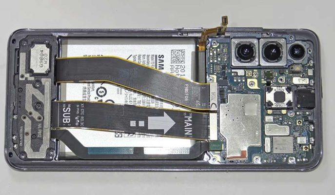 Samsung'un Yeni Tanıtılan Telefonu Galaxy S21'in İç Donanımı Gösterildi