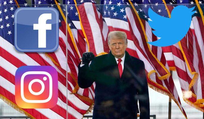 Sosyal Medya Devleri ABD'deki Olaylar Sonrasında Trump'ın Hesaplarını Kilitledi