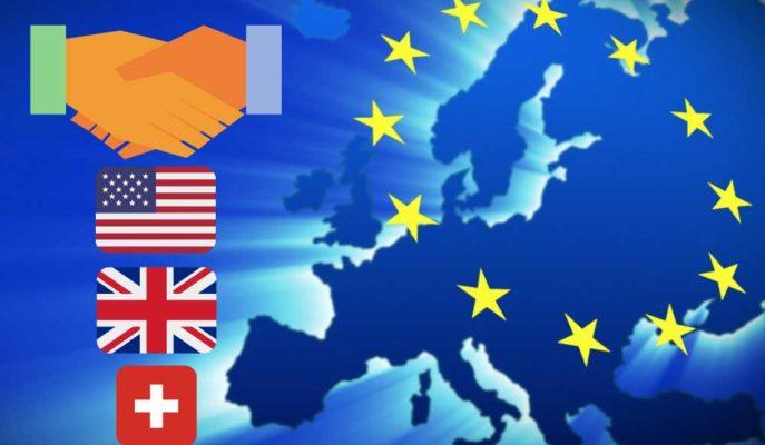 AB'nin 2019'da Lider Hizmet Ticareti Ortakları ABD-İngiltere-İsviçre Oldu