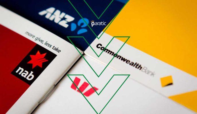 Avustralyalı Dört Büyük Bankanın Hisseleri Düşük Hacim Etkisiyle Geriledi