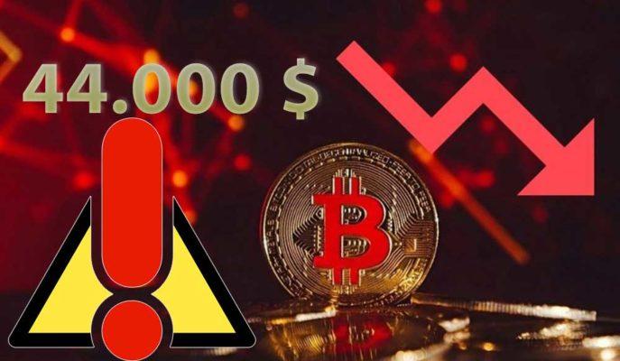 Bitcoin için Kritik Destek 44 Bin Doların Altı Yeni Bir Düşüşü Tetikleyebilir