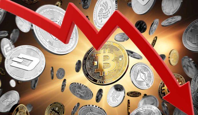 Bitcoin'in Önderliğinde Tüm Kripto Paralar Çakılmaya Başladı
