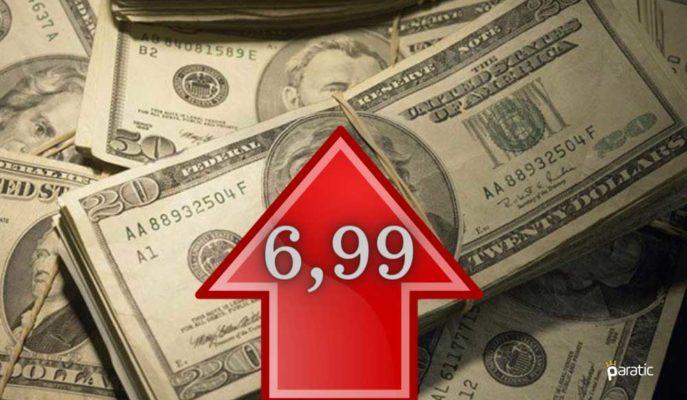 Dolar 7 Liranın Hemen Altında Fiyatlanırken, Yukarı Yönlü Çabası Sürüyor