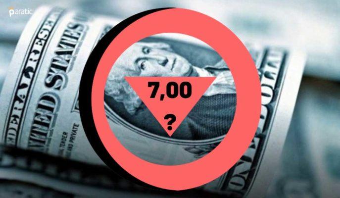 Dolar, TCMB Kararının Beklendiği Haftaya 7 Lira Altını Test Ederek Başladı