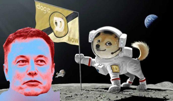 Elon Musk Son Paylaşımı ile Dogecoin'i Ay'a Gönderdi
