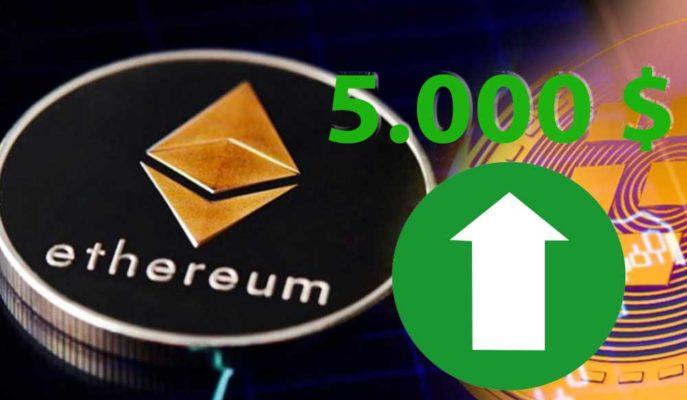 Ethereum'un 2021 Yılında 5 Bin Dolara Ulaşabileceği İddia Edildi