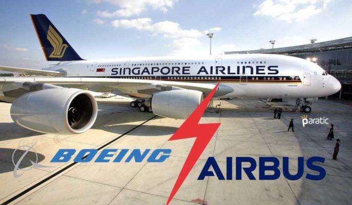 Singapur Havayolları, Airbus ve Boeing Uçakları için Harcamayı Erteledi
