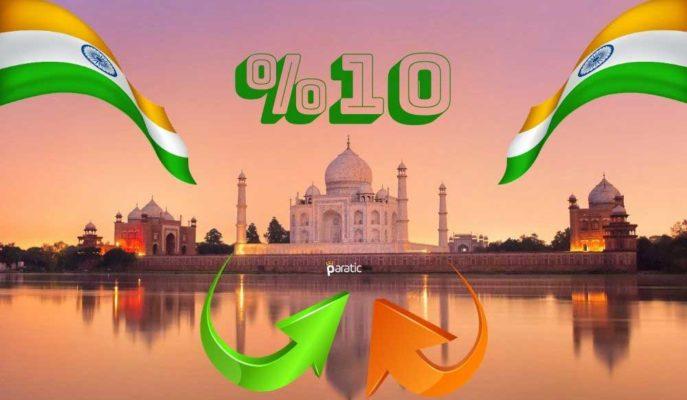 S&P, Vakaların Düşüşe Geçtiği Hindistan Ekonomisinde %10 Büyüme Bekliyor