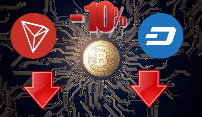 Tron ve Dash, Bitcoin'deki Düşüşün Etkisiyle Yüzde 10'a Yakın Değer Kaybetti