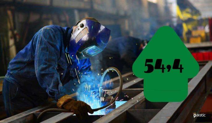 Türkiye İmalat PMI 2021'in İlk Ayında 54,4 Değerine Yükseldi