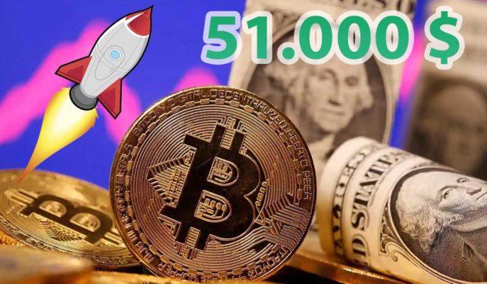 Bitcoin Kayıplarını Geri Aldı ve 51 Bin Dolar Haftanın En Yükseğini Gördü