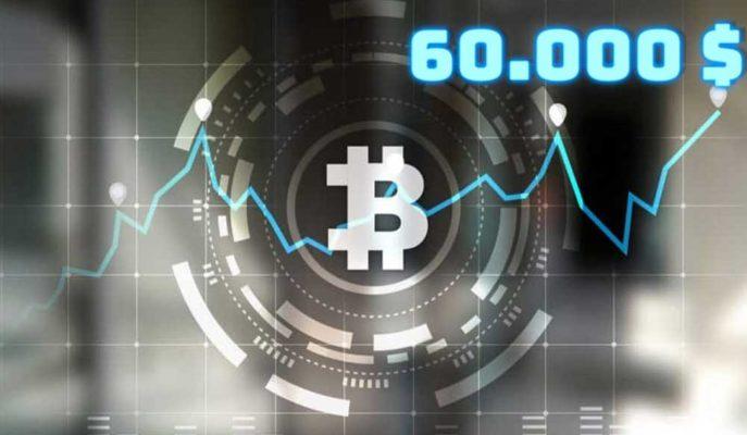 Bitcoin Yükselişi ile Yeniden 60 Bin Doları Test Etmeye Hazırlanıyor