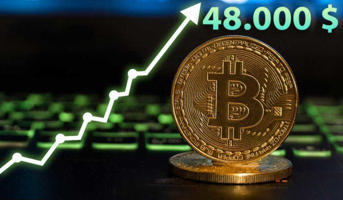 Bitcoin Mart Ayının İlk Gününde 48 Bin Dolar Seviyesini Aştı