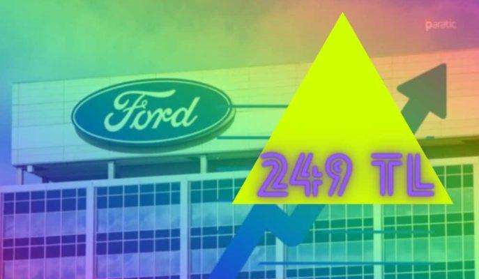 Devre Kesici Uygulanan Ford Hisseleri 249,60 TL ile Yeni Rekor Gördü