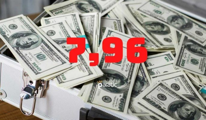 Dolar Haftanın Son İşlem Gününe 7,96'dan Başladı