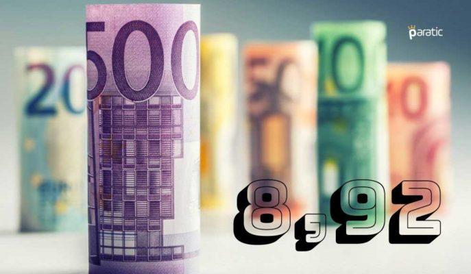 8,92'den İşlem Gören Euro, Haftalık Bazda %0,30 Düşüş Gösterdi