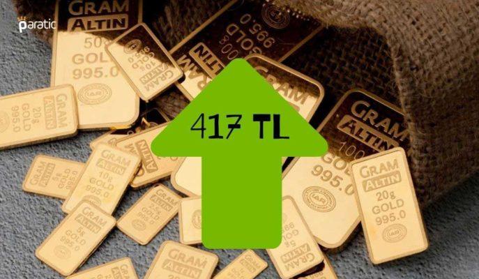 Gram Altın Dolardan Aldığı Destekle 417 Liradan İşlem Görüyor
