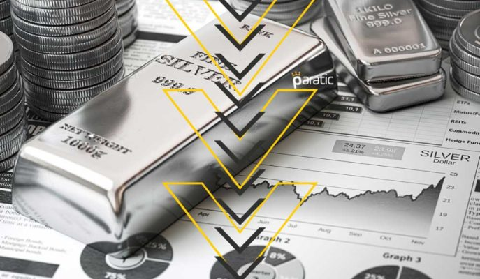 Gümüş, Enflasyon Endişeleri ve Tahvil Getirileriyle %1,7 Civarında Geriliyor