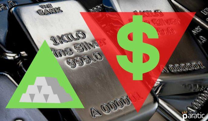 Gümüş Zayıflayan Dolardan Aldığı Destekle 2 Haftanın En Yükseğini Gördü