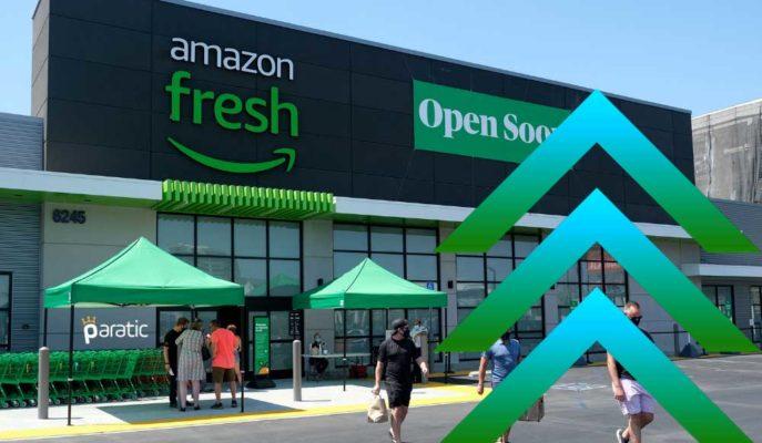 İngiltere'de Kasasız Mağaza Açan Amazon'un Hisseleri Açılış Öncesi Yükseliyor