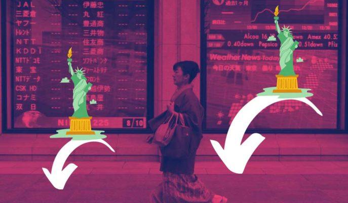 Japon Hisseleri Olumlu Yerli Veriye Tepkisizken ABD Etkisiyle Sert Düştü