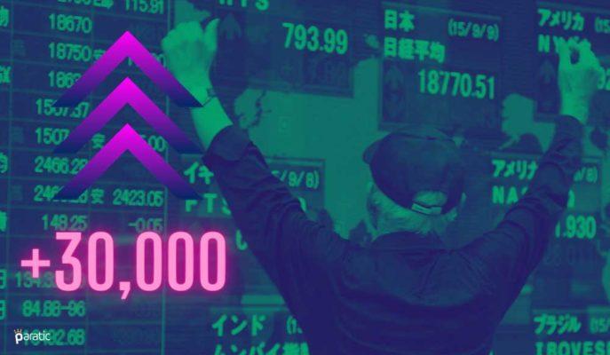 Nikkei 225 Fed Desteğiyle 3 Hafta Sonra Yeniden 30 Bin Puanı Aştı